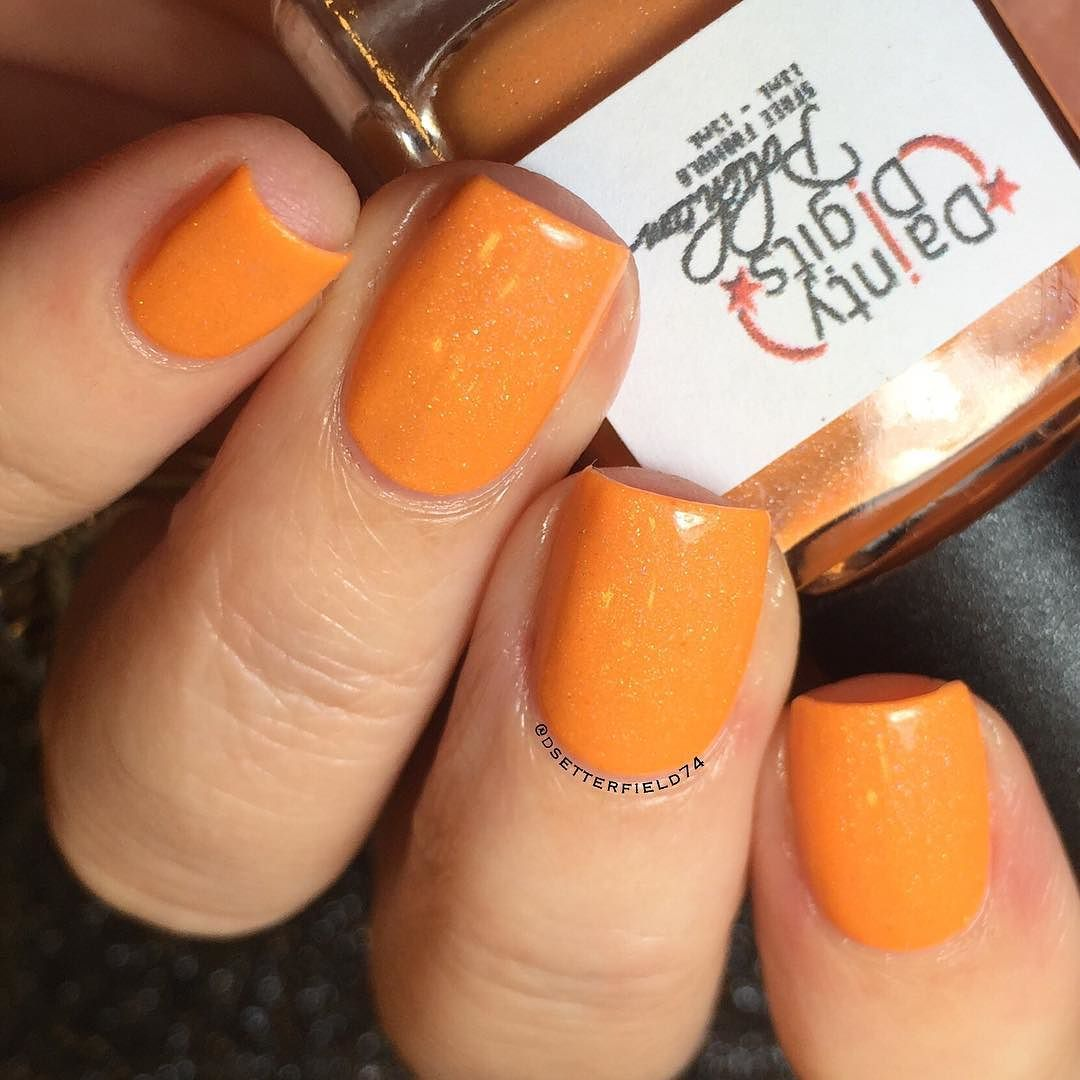 Next up from the @_daintydigitspolish #RainbowGelatoCollex this is Mandarin Orange - a lovely summery shade. Again great coverage in two coats and excellent smooth formula. Nice subtle touch of holo sparkle.  Set is available for pre-sale on May 4 and then officially on sale May 8. Mark your calendars!  #daintydigits #daintydigitspolish #prsample #swatcher #nailblogger #nails #nailart #nailpolish #instanails #notd #nailstagram #nails2inspire #nailsofinstagram #nailartclub #nailartaddict…