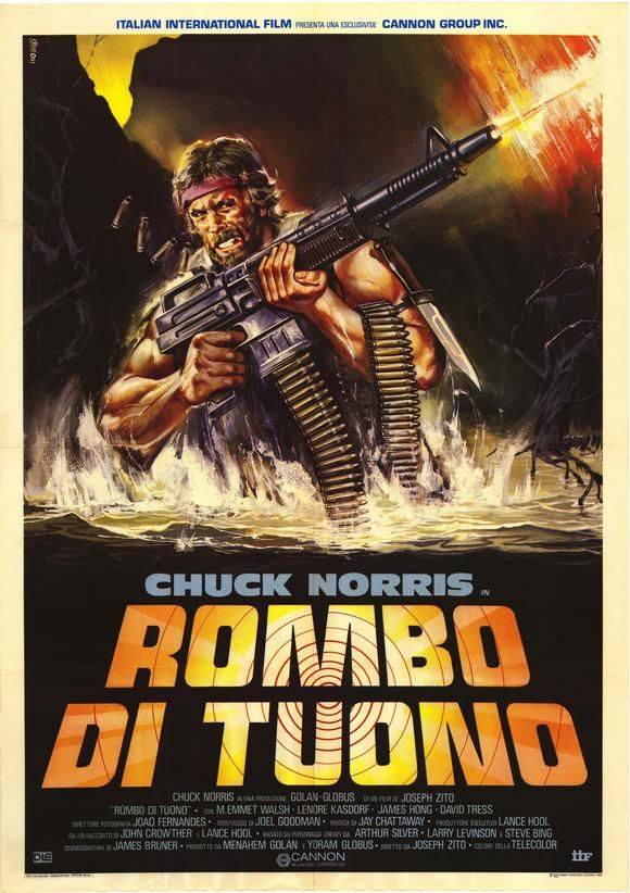 Missing in Action Italian Movie Poster Missing in Action