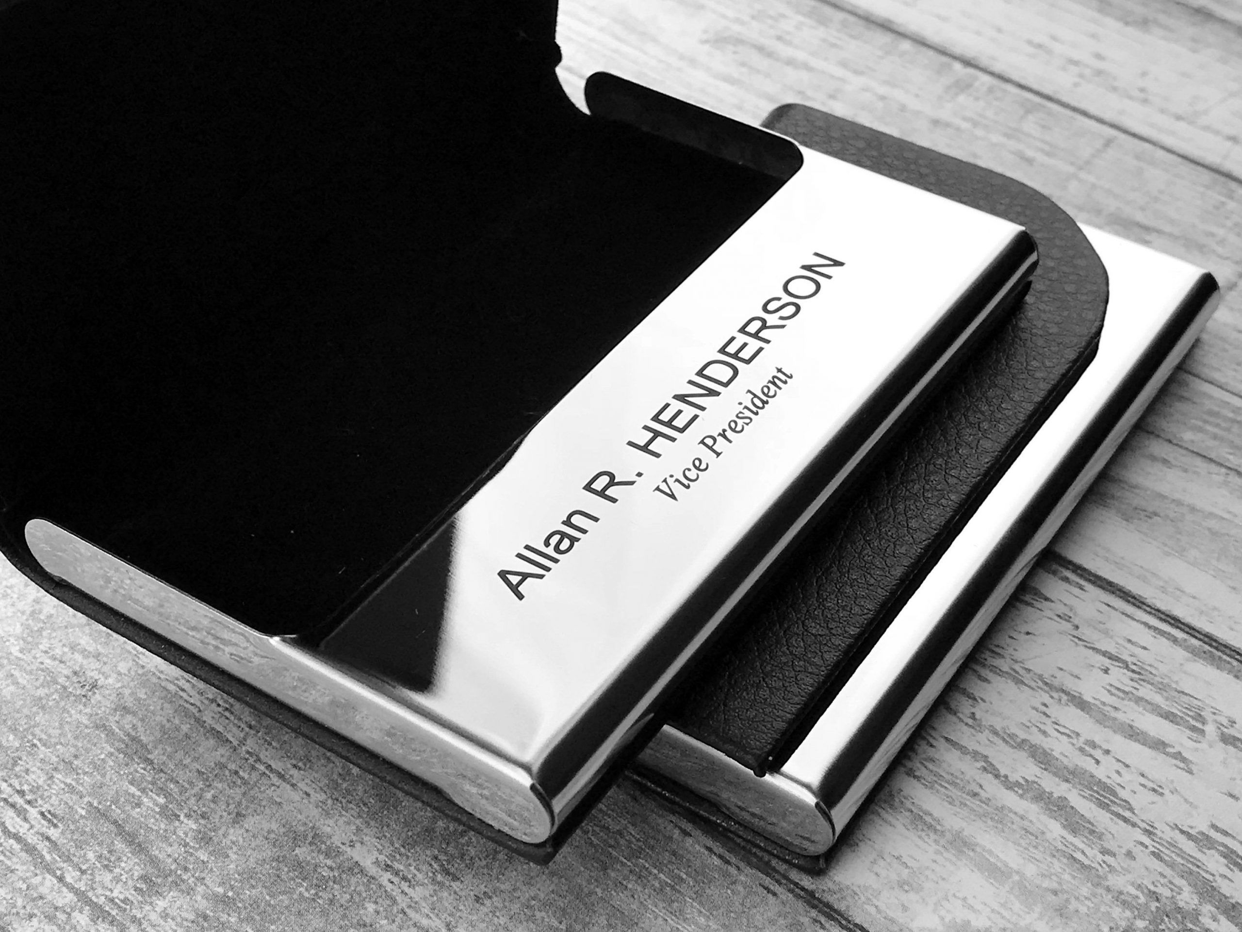 Engraved Business Card Case Free Download
