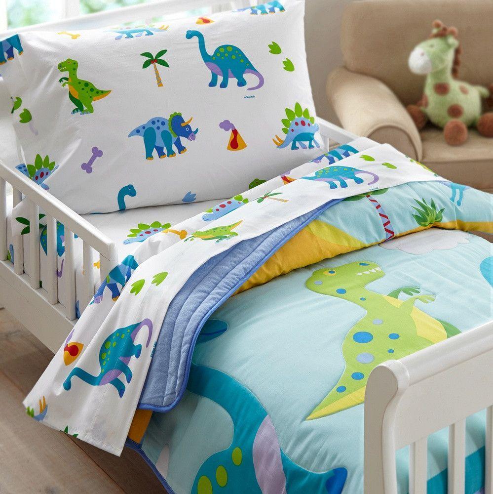 Olive Kids Dinosaur Land Toddler Comforter Toddler Bed Set Toddler Bed Boy Dinosaur Toddler Bedding