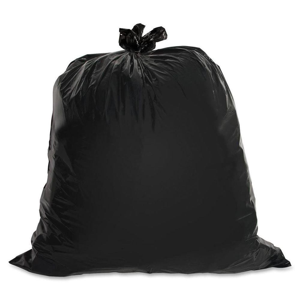 Industrial Black Garbage Genuine Joe Heavy Duty 60 Gallon Trash Bags Genuinejoe Lowdensitytrashbag Trash Bag Trash Bags Heavy Trash
