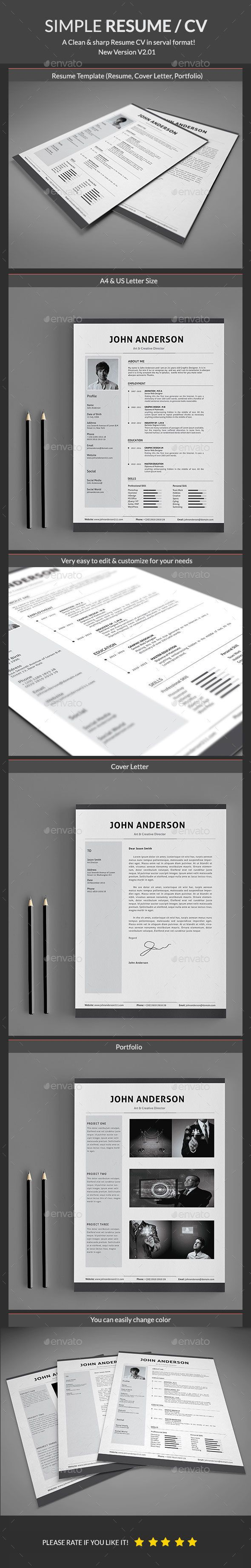 Resume Template Psd Design Download HttpGraphicriverNetItem