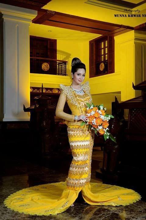 Moe Yu San | Myanmar Traditional Fashion | Pinterest | Traditional ...