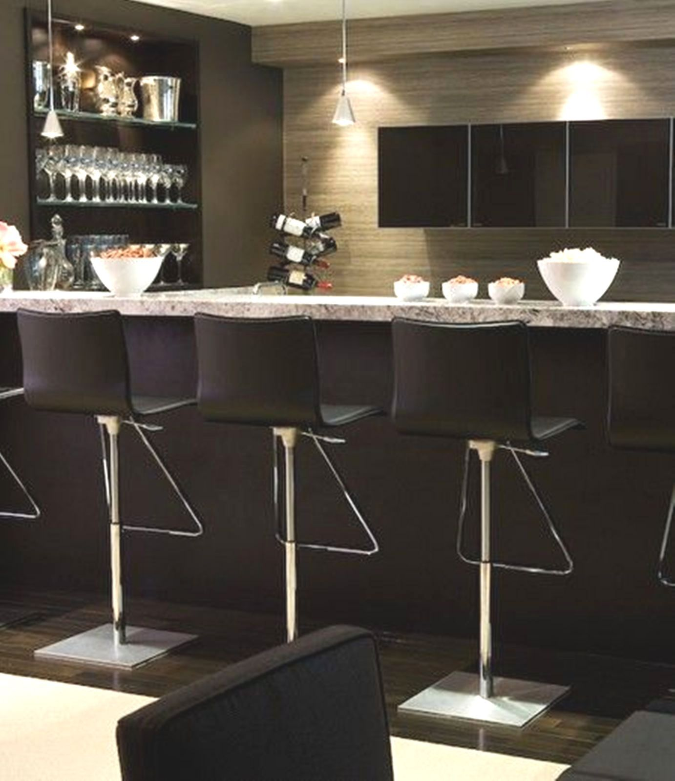 Modern Home Bar Design Ideas: Home Bar, Basement Bar, Modern, Luxe, Masculine