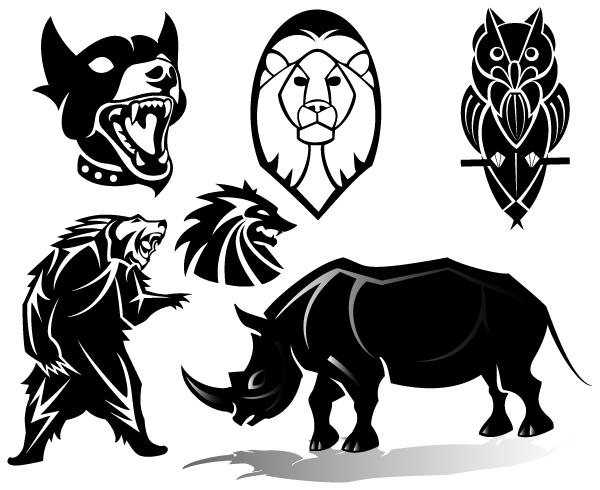 Vector Line Art Animals : Free animals vector clip art images vectors