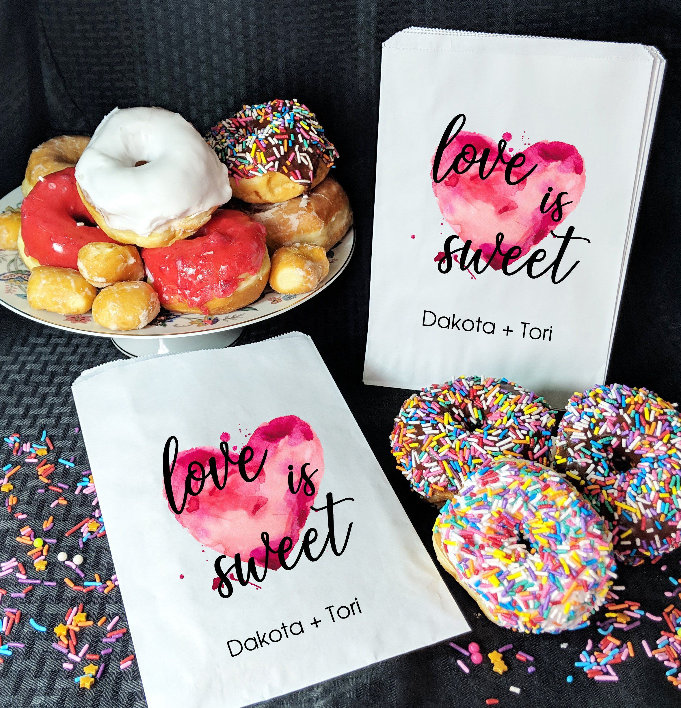 Love Is Sweet Donut Bags Treat Bags For Wedding Love Is Sweet