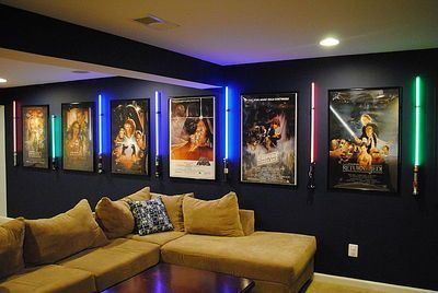 Breathtaking 24 Nerdy Home Decor Items To Geek Out Over Https Decorisme Co 2017 12 21 24 Nerdy Hom Small Home Theaters Home Cinema Room Home Theater Lighting
