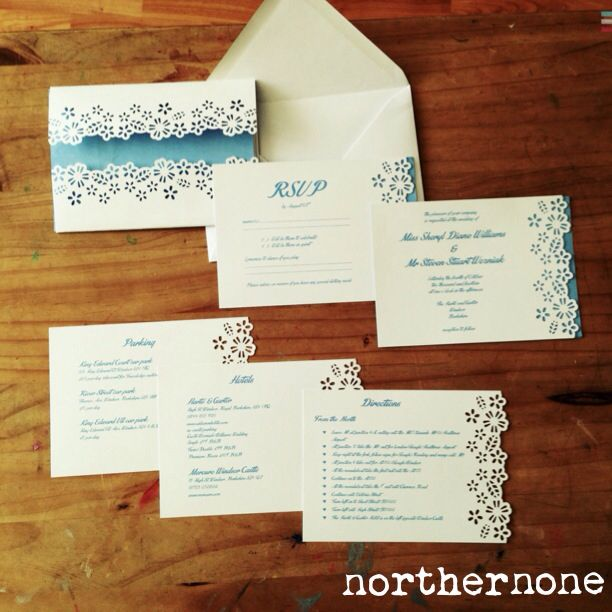 wedding invitation set. a6 card using contrasting background, Wedding invitations
