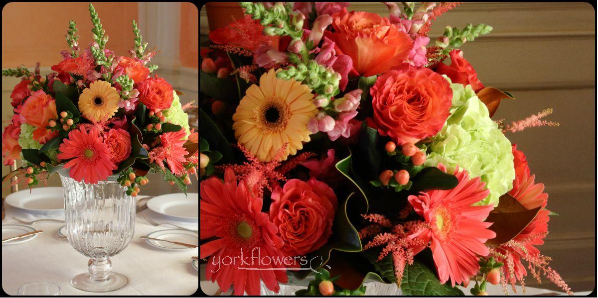 Washington Annapolis Florist Fairytale Wedding Flower Arrangements Peach Rooms