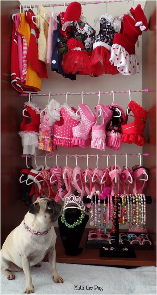 Our Noel has a clothes closet also, however, I need to create her the necklace and tiara holders.