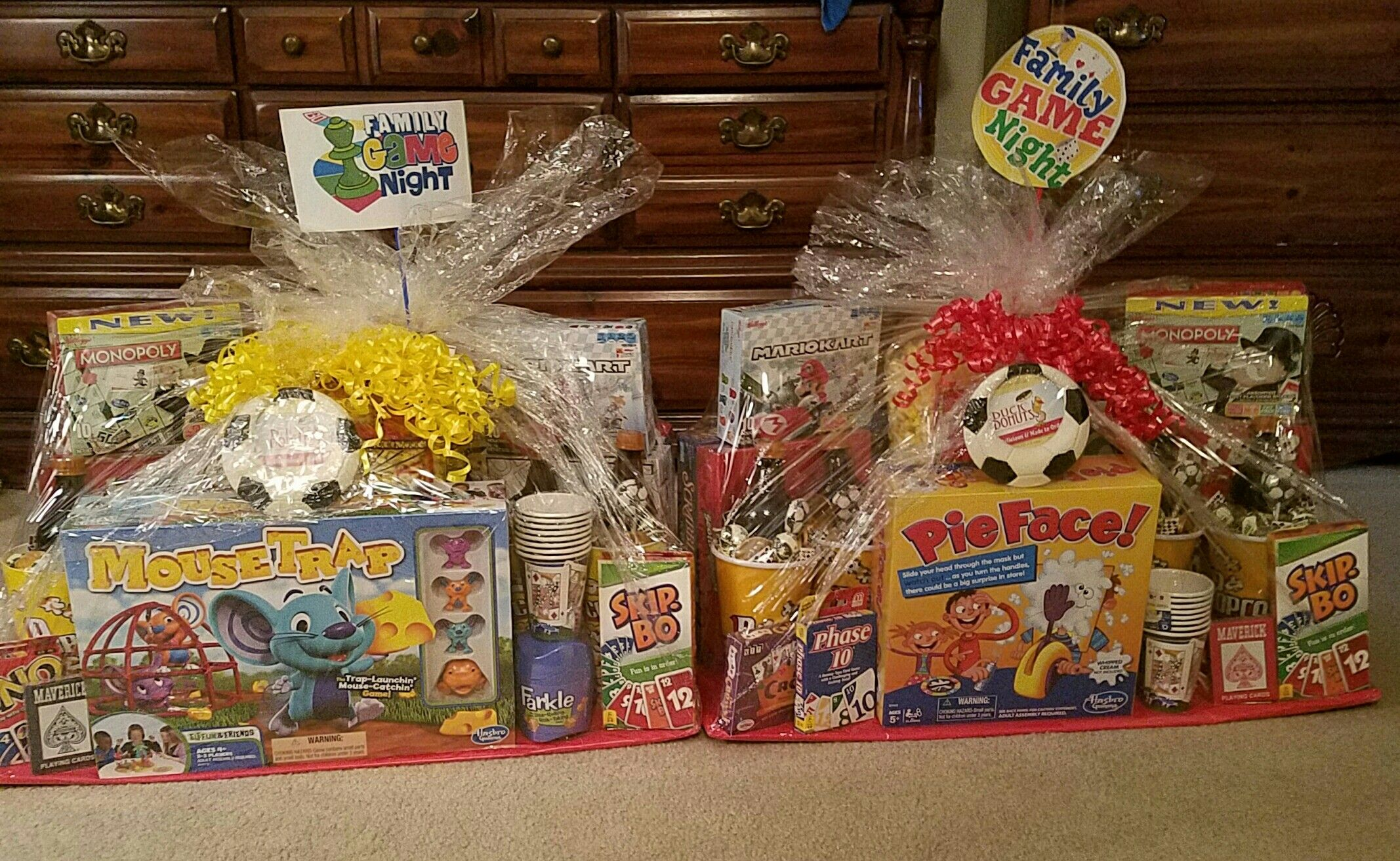Family Game Night Auction Baskets Family movie night