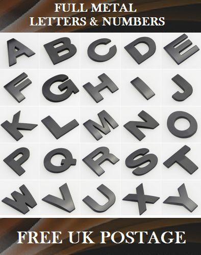 RUNMIND 26Pcs DIY 3D Chrome Car Emblem Sticker Alphabet Letter Number Symbol Badge Decal