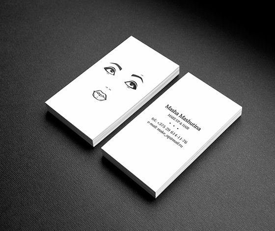 Business card for a makeup artist and hair stylist | Business ...