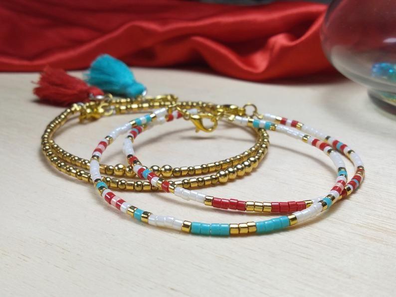 White and golden friendship bracelet tassel miyuki 24k gold plated beads for women,handmade stacking bracelet,jewelry,unique,woman jewellery