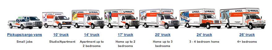 u haul rental trucks