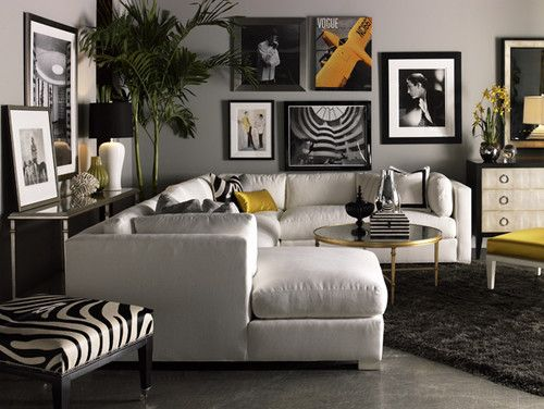 Lillian August Fine Furniture   Sectional Sofas   Chicago   Front Roe  Fashion Zebra