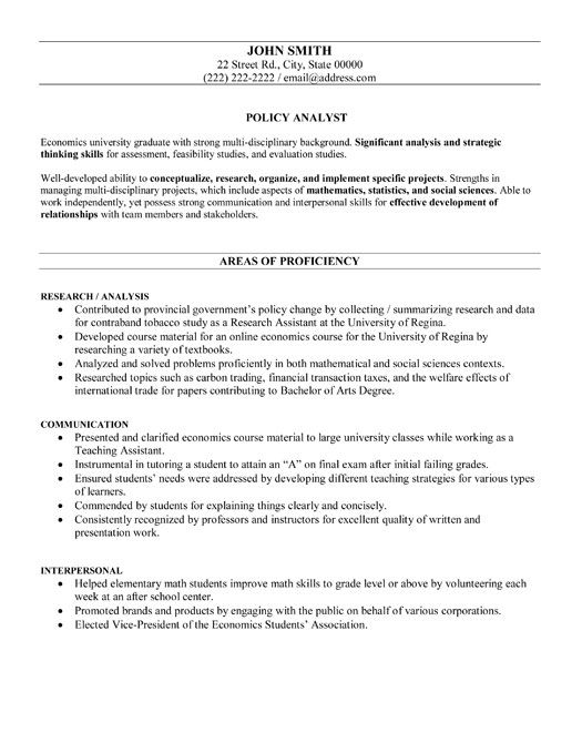 Sample Government Resume Click Here To Download This Policy Analyst Resume Template Http