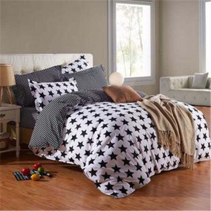 pas cher 4 pcs literie set famille coton ensemble de literie lit fixe feuilles housse de couette. Black Bedroom Furniture Sets. Home Design Ideas