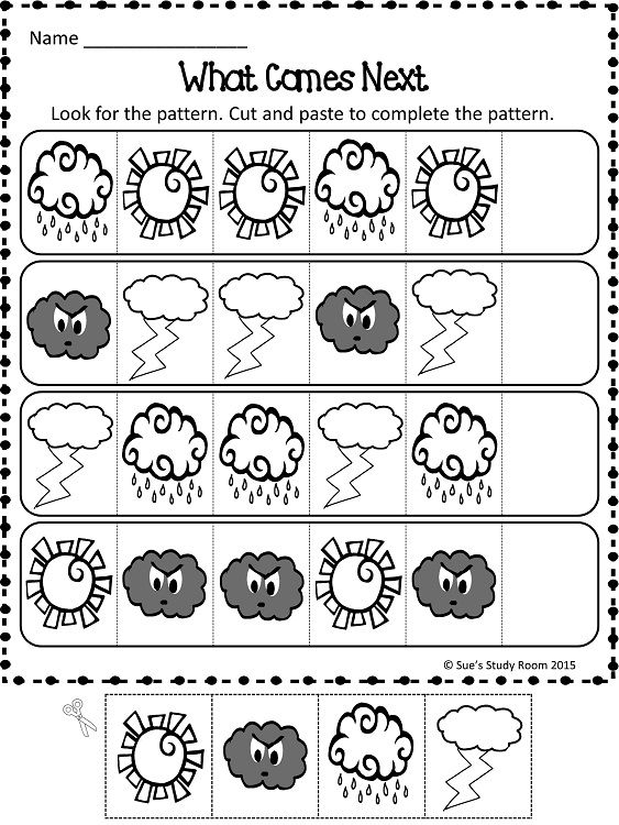worksheet: Pattern Worksheets For Pre K