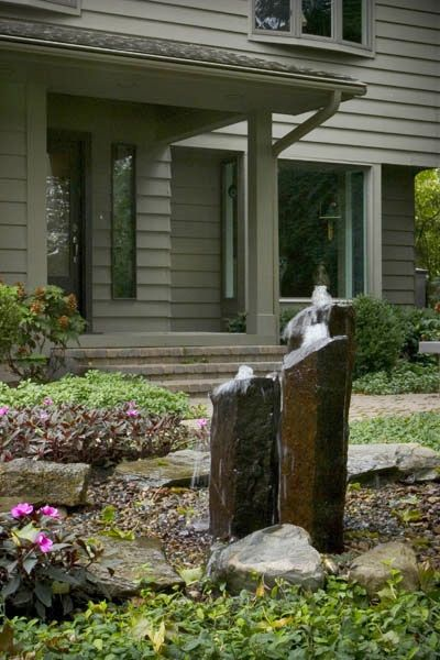 Front Yard Water Features Boost Your Curb Appeal Contoh Taman
