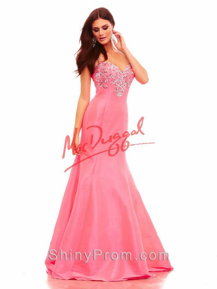 Strapless Sweetheart Gown With Sequin And Crystal Bodice With ...