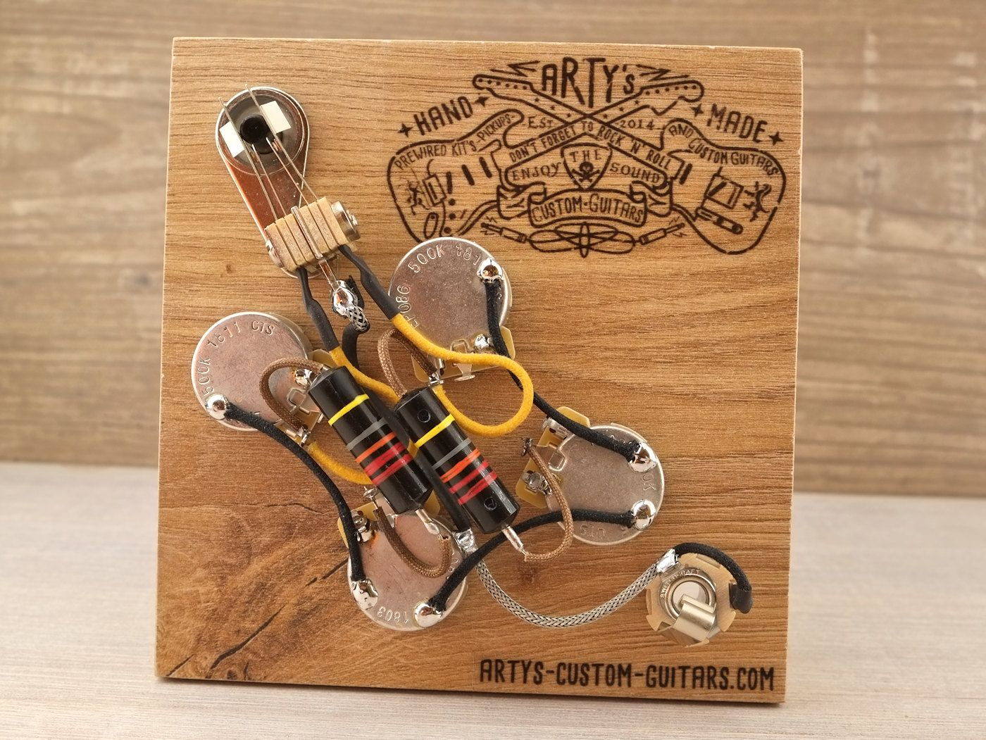 arty s custom guitars gibson sg bumble bee prewired harness assembly kit wiring gibson [ 1400 x 1051 Pixel ]