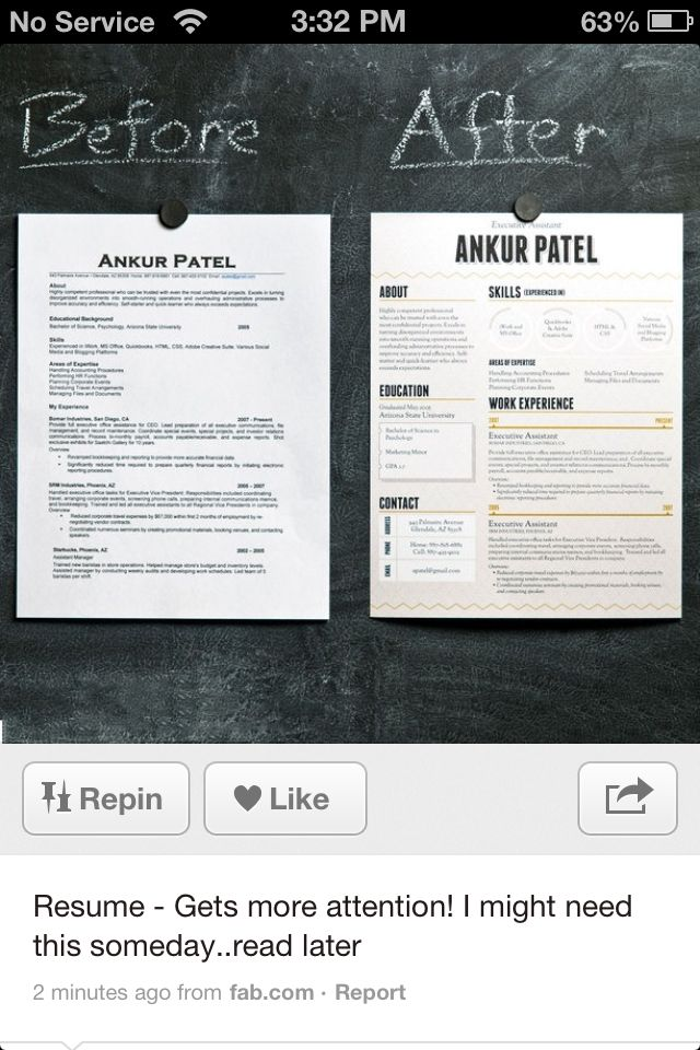 Nice before-and-after comparison Resume Inspiration Pinterest - Resume Now Customer Service