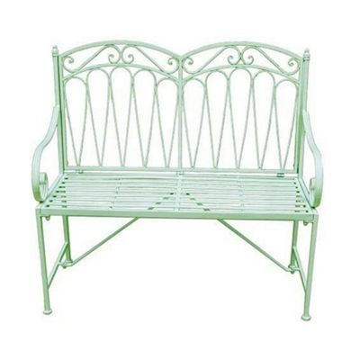Green 'Romance' bench at debenhams.com | Patio furniture ...