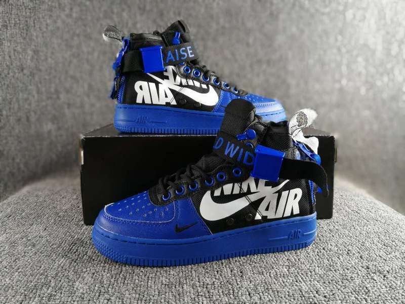 online store 229ca 23066 Nike Special Field SF AF1 Mid air force treasure blue zipper Plate shoes