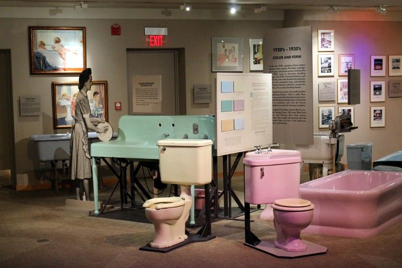 The Kohler Design Center Museum is in the lower level of the Kohler Design Center showroom.  That lavender set is from my bathroom in the house on West Park Lane - Rue