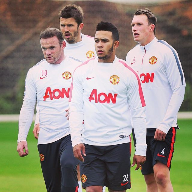 Memphis First Training Session With His New Mufc Team Mates July 2015 Manchester United Football Club Manchester United Players Manchester United Football