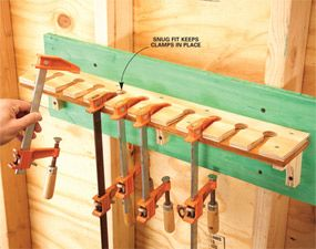 Storage How To Store Clamps Workshop Storage Clamps Shop Storage