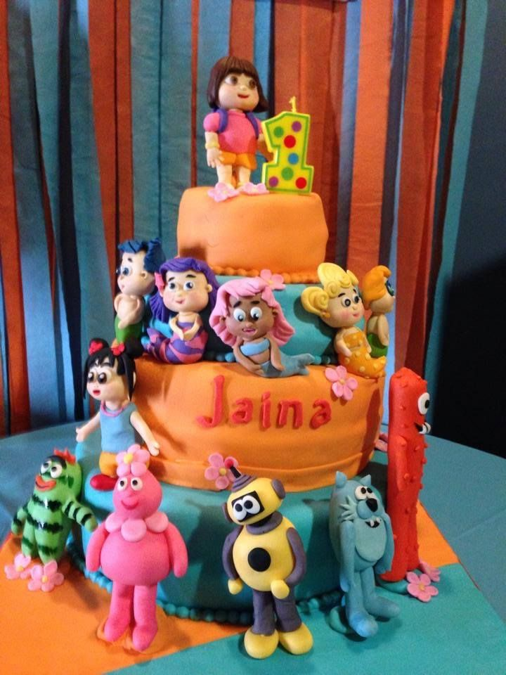 Enjoyable Our Daughters 1St Bday Cake We Went With A Nick Jr Theme And Funny Birthday Cards Online Alyptdamsfinfo