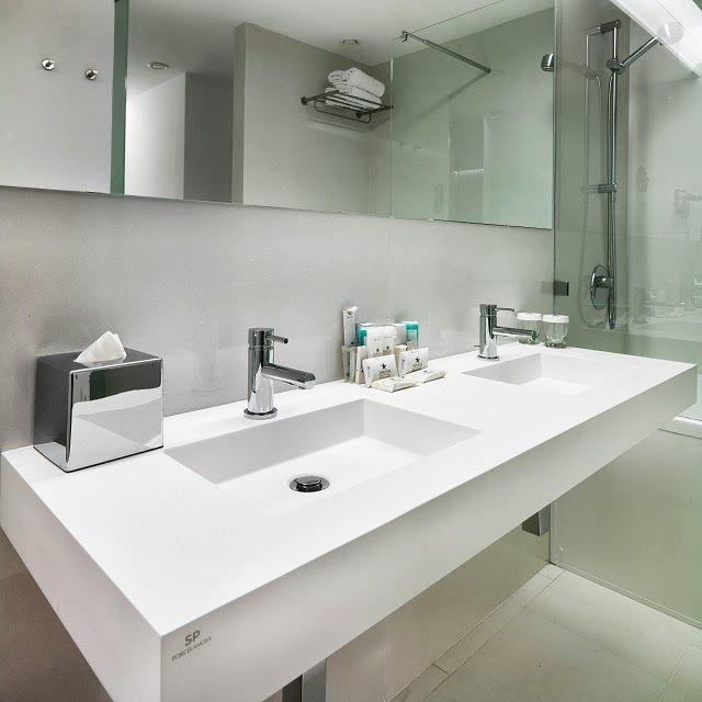 Projects PORCELANOSA Grupo: Krion® en Iberostar Grand Hotel Mencey #Porcelanosa #Krion #projects #hotel #interiorismo #interiordesign