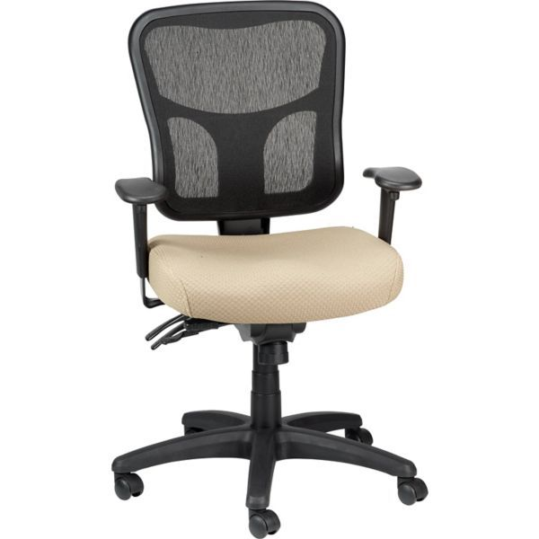 Tempur Pedic Tp8000 Mesh Computer And Desk Office Chair Beige Fixed Arm Tp8000 Beige At Staples In 2020 Mesh Office Chair Mesh Task Chair Task Chair