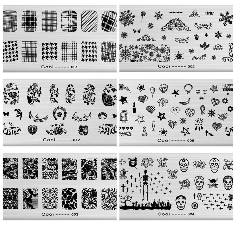 Nail Stamp Art Templates Image Plate // Price: $6.65 & FREE ...