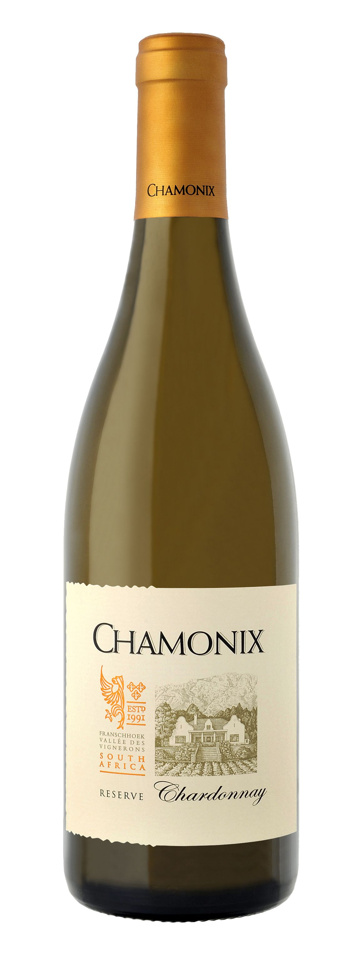 Chamonix chardonnay reserve south african wine italian