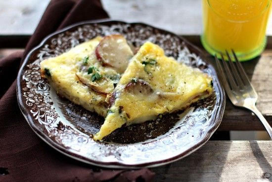 Potato & Spinach Frittata - an easy & delicious brunch recipe
