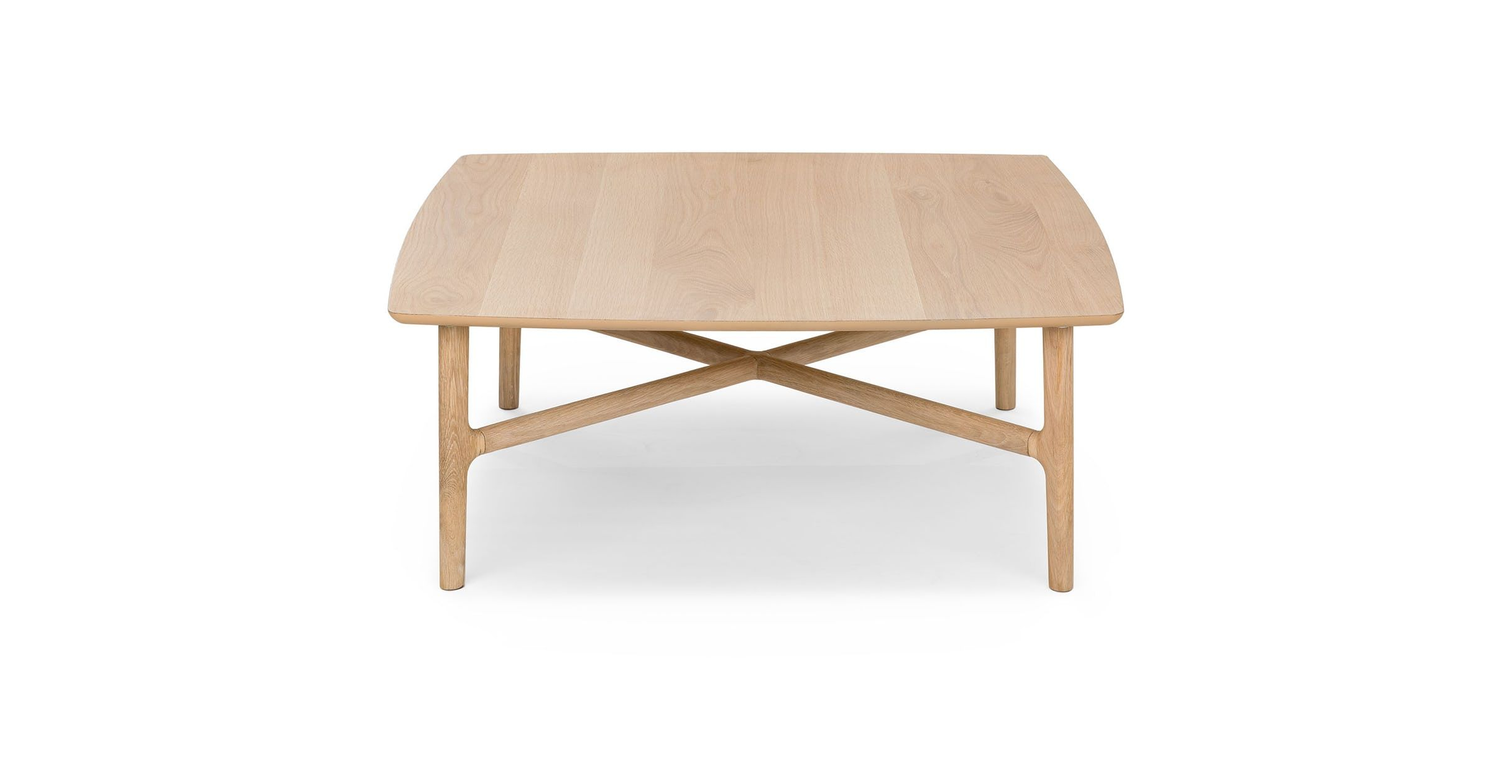 Brezza Light Oak Square Coffee Table Coffee Tables Article Modern Mid Century And Scand Mid Century Modern Coffee Table Coffee Table Square Coffee Table [ 1262 x 2432 Pixel ]