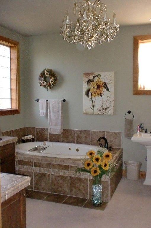 Master Bath With Jacuzzi Tub And Large Shower Elegant Bathroom