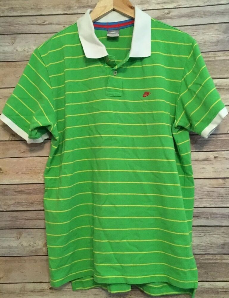 Details about nike lime green striped rugby mens short