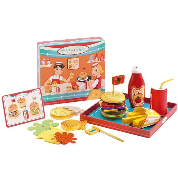 Juguete educativo malet/ín con hamburguesas