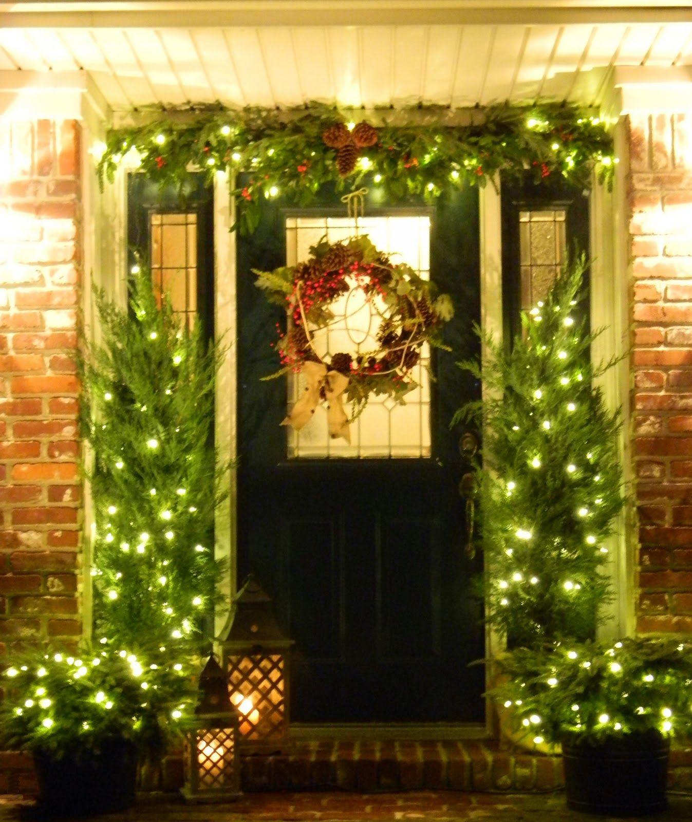 Front Door Christmas Wreaths Front Door With Cool Wreath