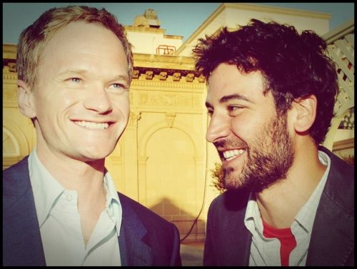 Barney and Ted being attractive as ever.