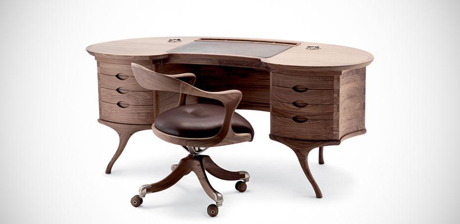 Bean Wooden Desk By Ceccotti Collezioni