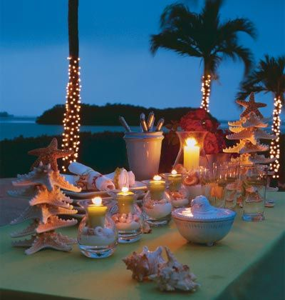 seaside holiday table setting
