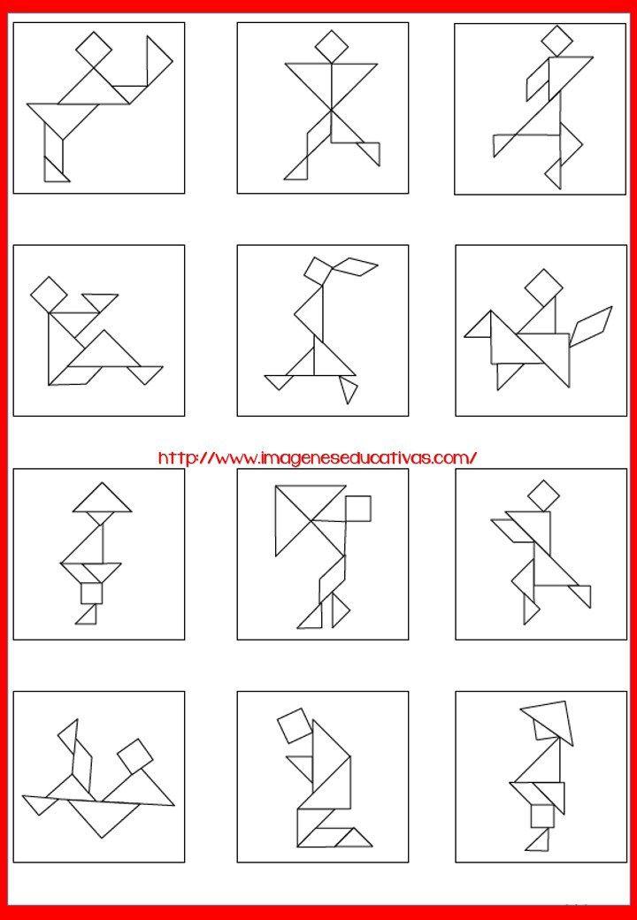 Tangram Figuras para imprimir (8 | Matematica | Pinterest | Imagenes ...