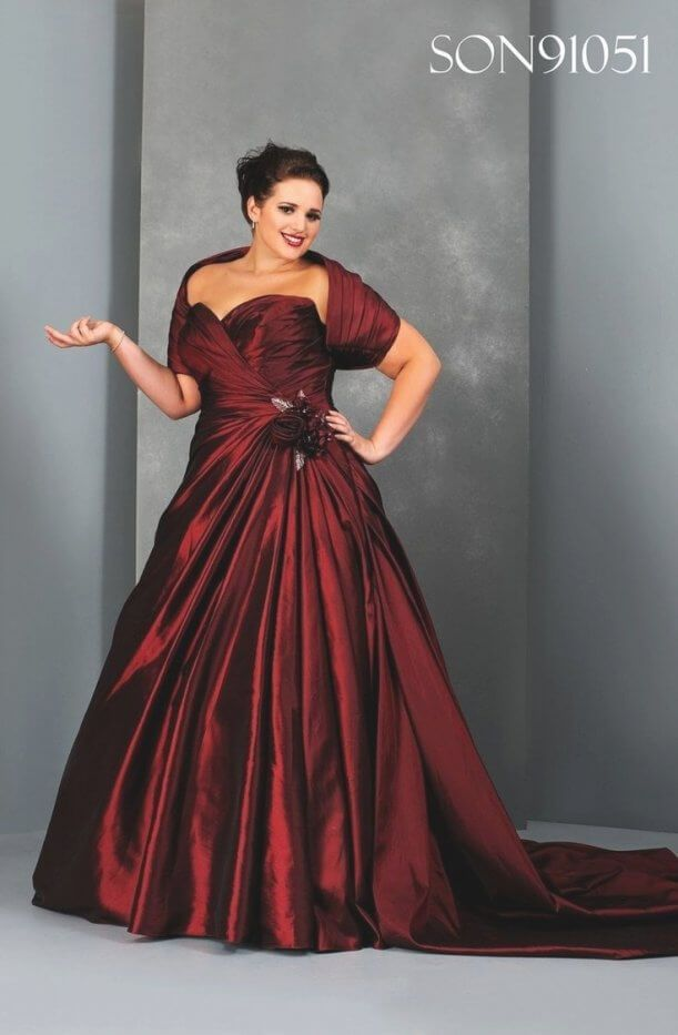 Best 30 Beautiful Plus Size Red And White Wedding Dresses | White ...