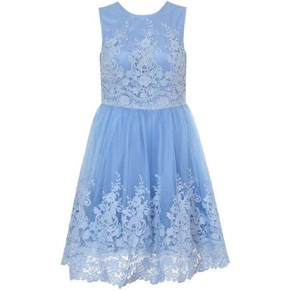**Chi Chi London Curve High Neck Lace Midi Dress ($119