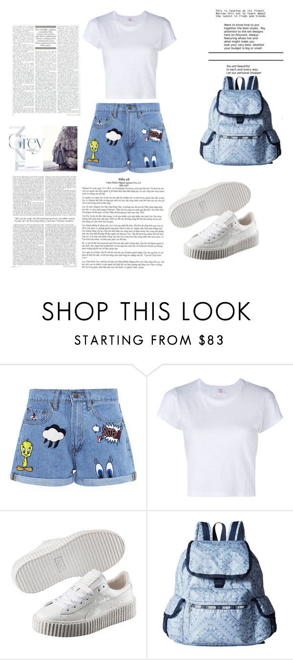 """Bez naslova #14"" by sarabeauty-corner ❤ liked on Polyvore featuring Paul & Joe Sister, RE/DONE, Puma and LeSportsac"